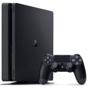 Image of Playstation 4 Slim 1TB (PS4) with Controller and Accessories